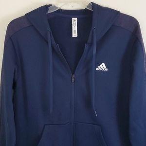Adidas Blue w/Purple Hoodie Jacket - M